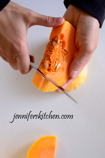 How to get the seeds out of a squash
