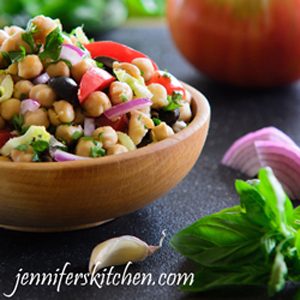 Greek Garbanzo Salad