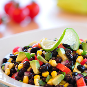 Black Bean Avocado Lime Salad