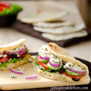 Greek-Veggie-Pita Sandwich