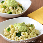 Pasta with Broccli Avocado Sauce