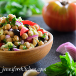 Vegan Greek Garbanzo Salad