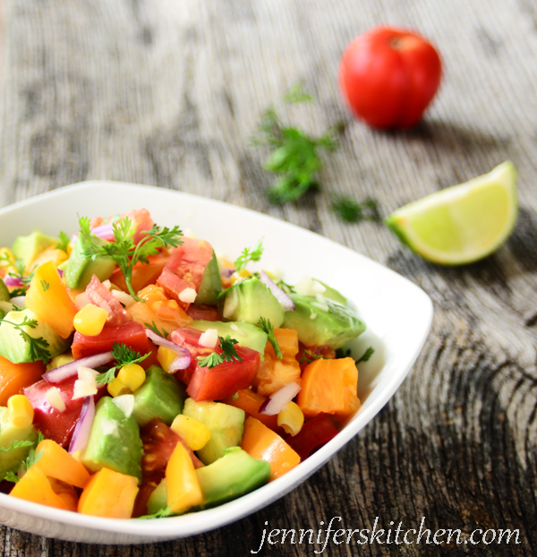 Fresh Avocado Tomato Salad