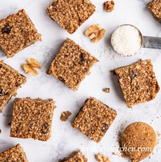 Sugar-Free, Oil-Free, Gluten-Free Breakfast Bars