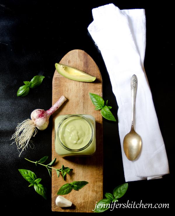Vegan Basil Avocado Salad Dressing