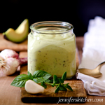 Basil Avocado Salad Dressing
