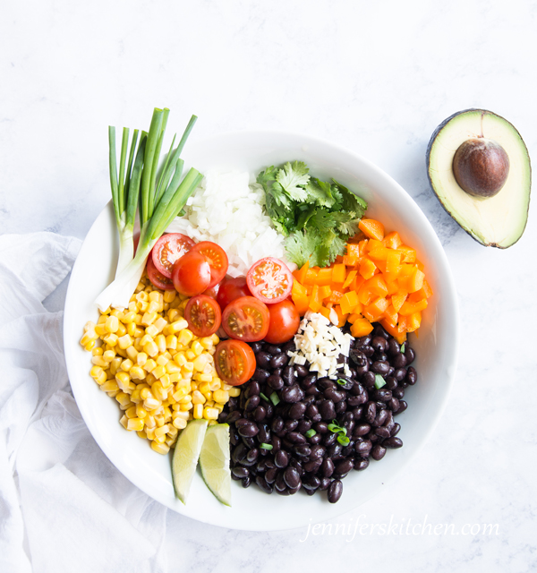 Vegan Glutenfree Black Bean Veggie Salad