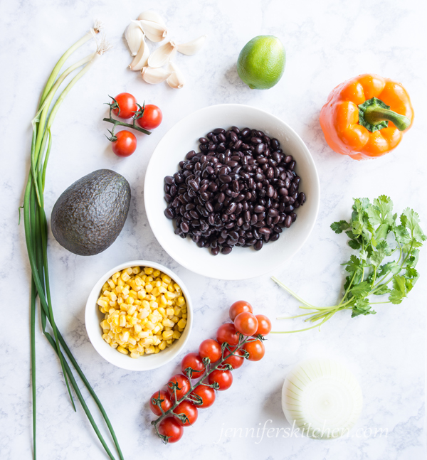Vegan Gluten Free Black Bean Veggie Salad