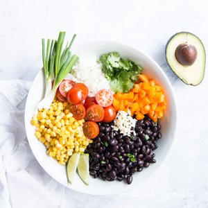 Easy vegan black bean salad