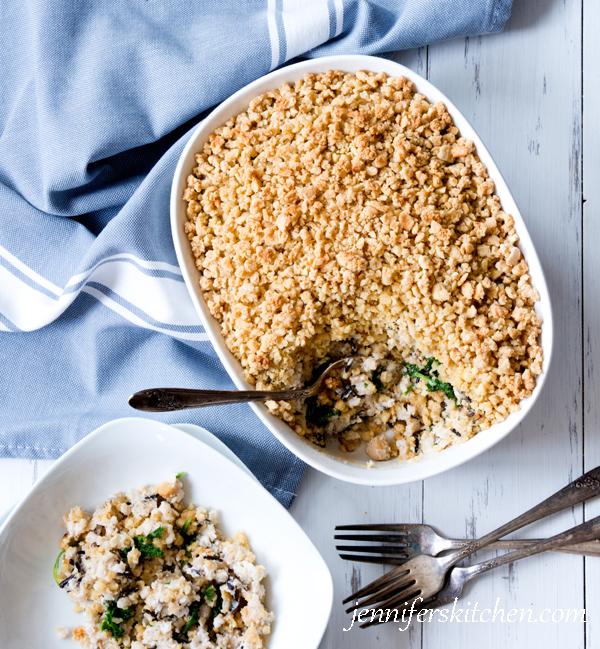 Comfort Food - Chickpea, Kale, Wild Rice Casserole