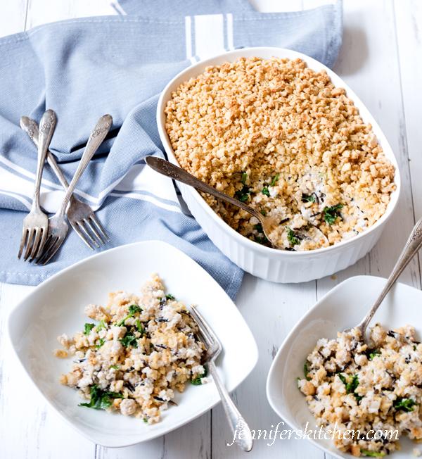 Chickpea, Kale, Wild Rice Casserole