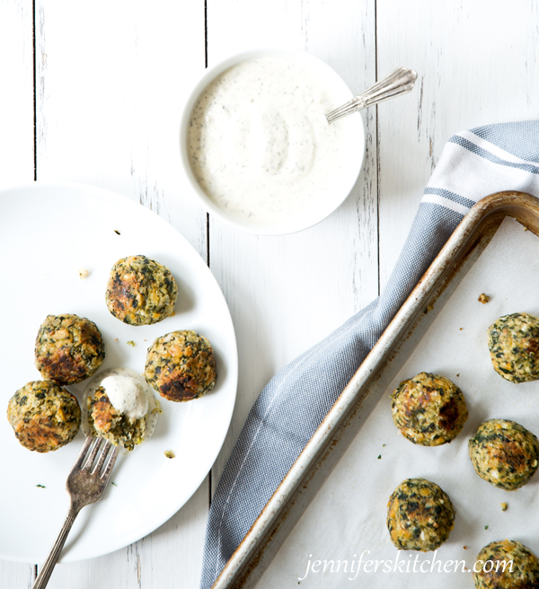 Chickpea-Spinach Nuggets