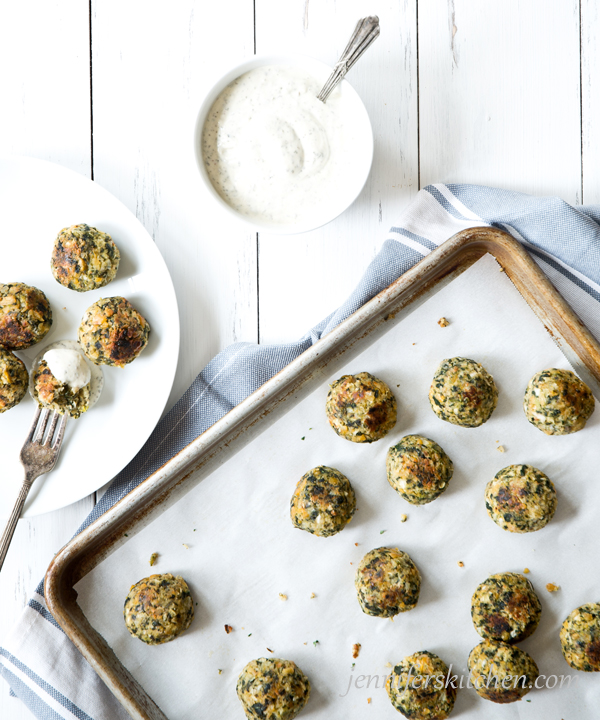 Chickpea-Spinach Tots