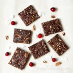 Sugar-Free, No-Bake, Gluten-Free, Cranberry Pecan Bars