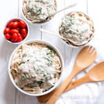 Creamy Cannellini Spinach Pasta