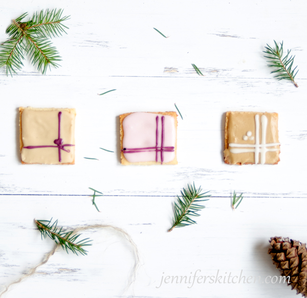 Healthy Christmas Cookies with Naturally Colored Icing