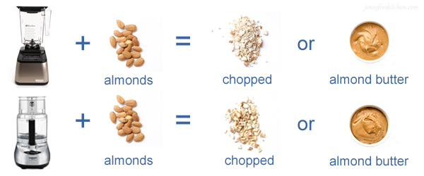 Chop Almonds in Food-Processor-Blender