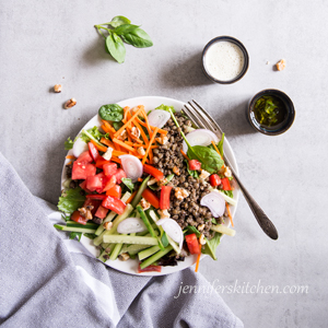 French Lentil Salad - vegan and gluten free