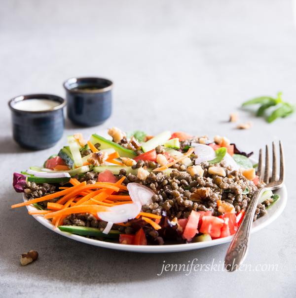 French Lentil Salad - healthy vegan glutenfree