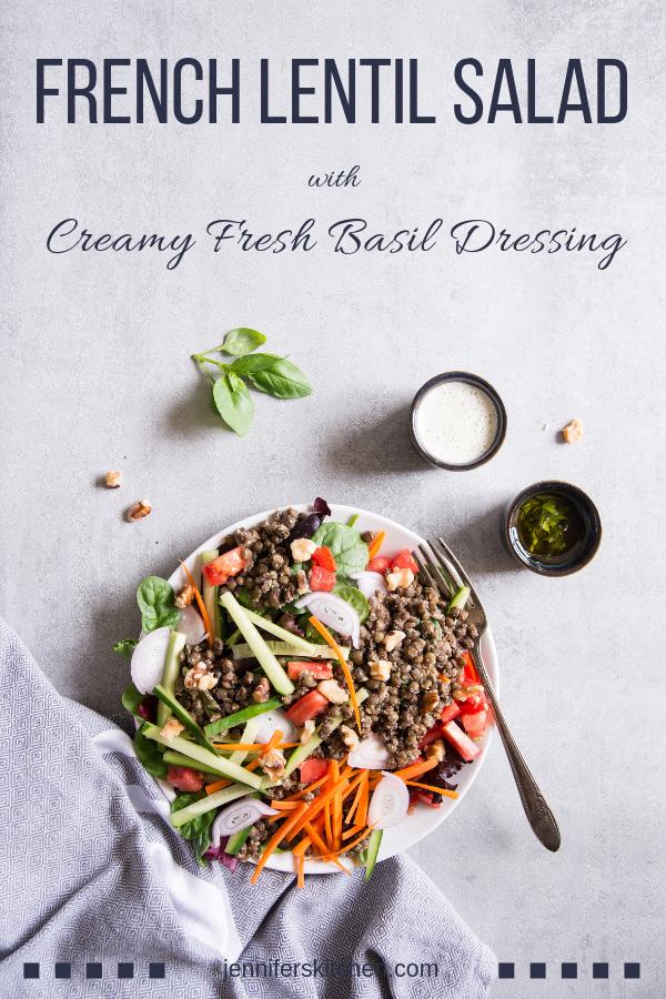 French Lentil Salad Vegan and GlutenFree