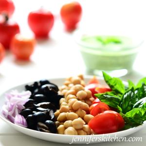 Garbanzo-Pesto-Salad