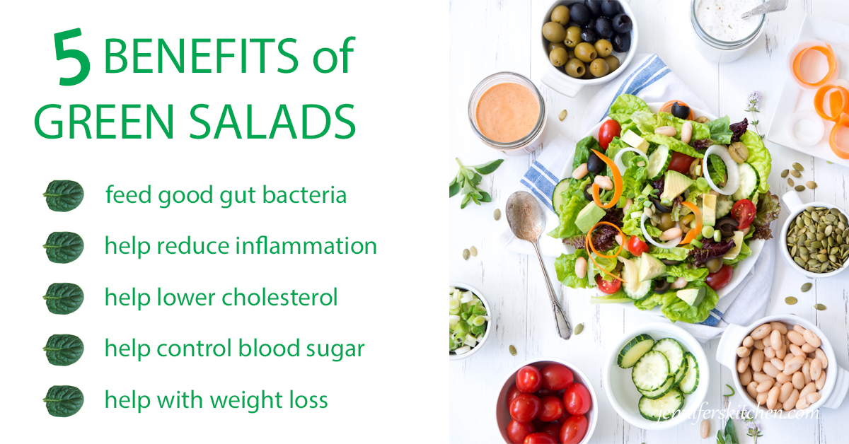Benefits of Green-salads