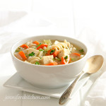 Italian Vegetable Soup with Pasta and Meaty Tofu