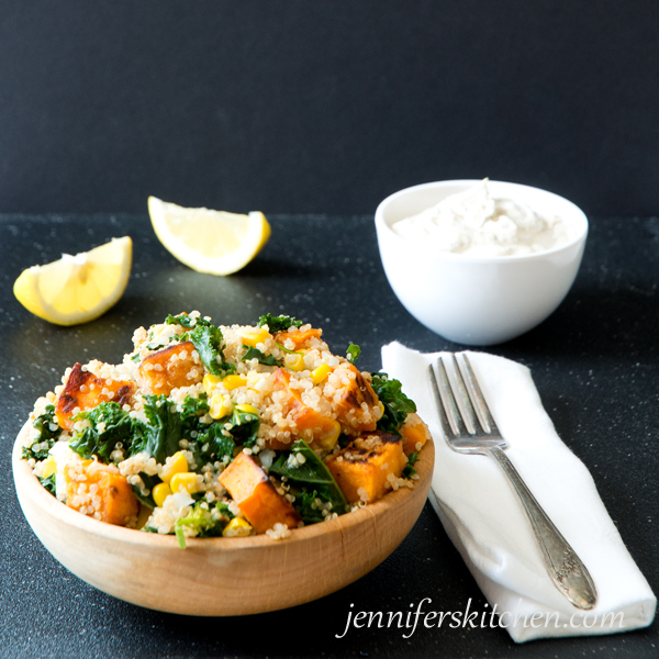 Kale-Sweet Potato-Quinoa Salad