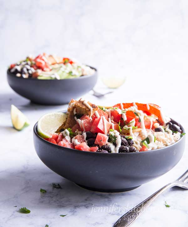 Lime Rice and Beans Bowl