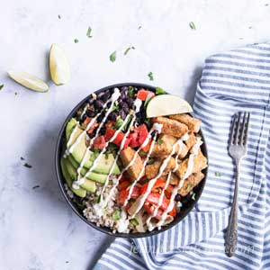 Lime Rice and Black Bean Bowl