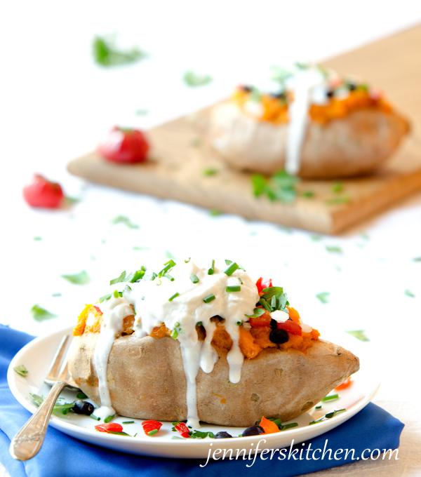 Vegan, Gluten-Free Loaded-Sweet-Potatoes