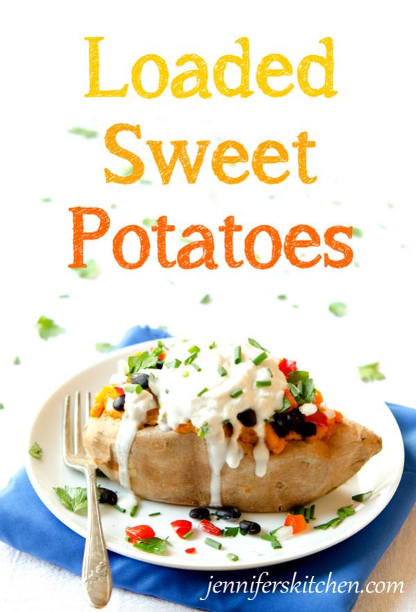 Vegan, Gluten-Free Loaded Sweet Potatoes