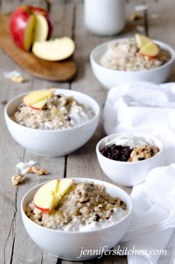Steel-Cut Oats in the CrockPot - Healthy Breakfast Ideas
