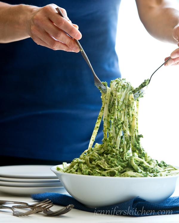 Vegan Gluten Free Pasta with Pesto