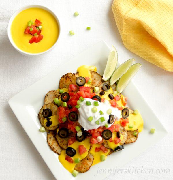 Vegan Potato Nachos