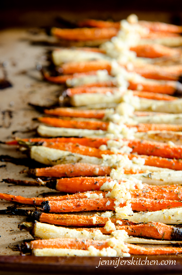 Roasted Carrots and Parsnips - JennifersKitchen