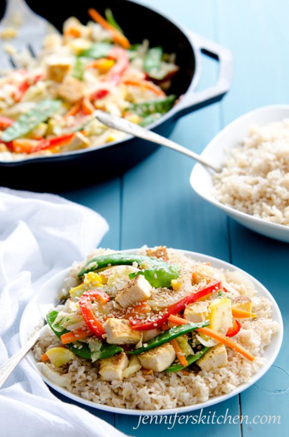 Vegan, gluten-free, soy-sauce-free stir-fry