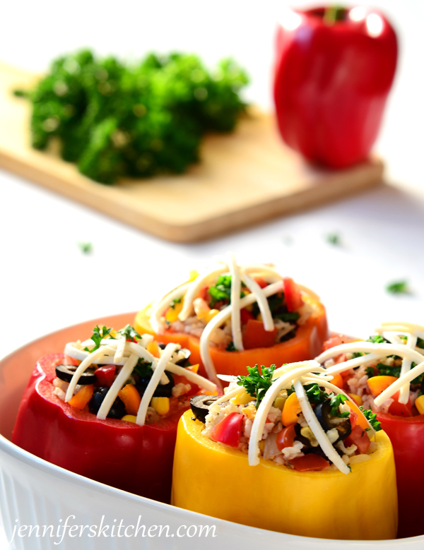 Low-Fat, Vegan Stuffed Peppers