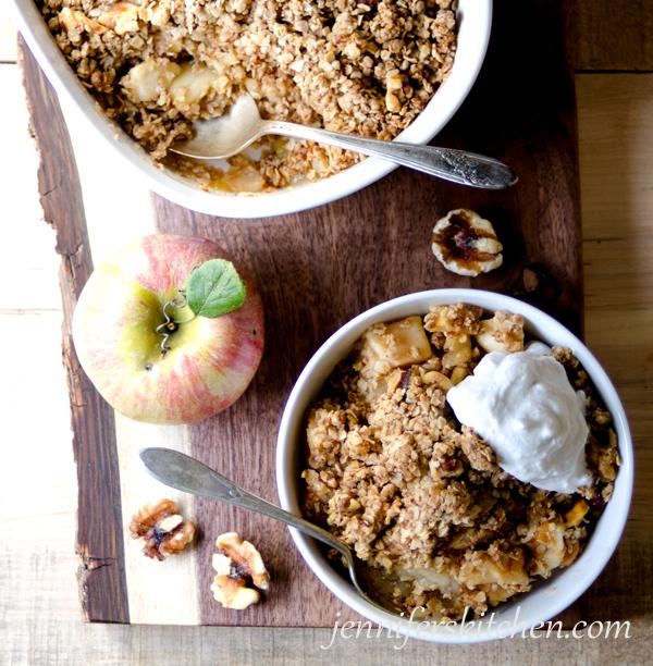Sugar-Free, Gluten-Free, Apple Crisp