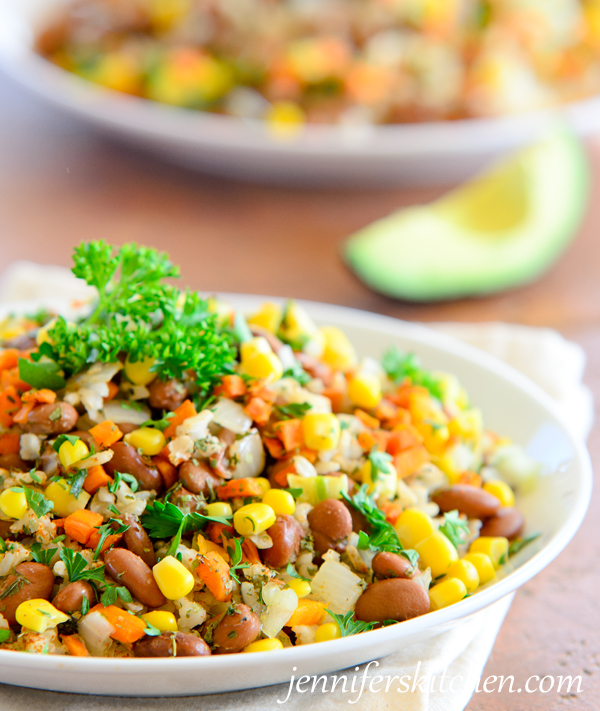 Vegetarian Tex-Mex-Beans-and-Rice